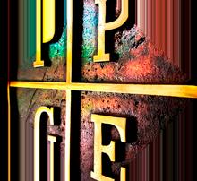 Brasão com a sigla do PPGE